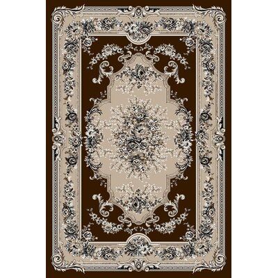 Gwinn Brown Indoor/Outdoor Area Rug Rug Size: 5' x 7'
