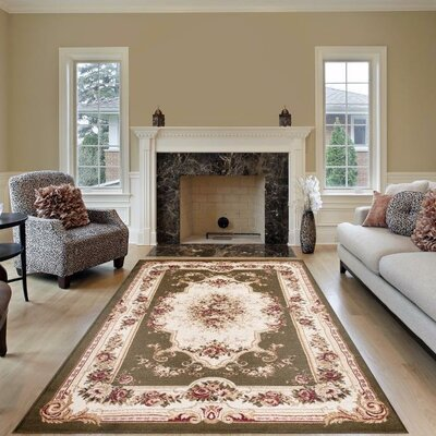 Gwinn Green Indoor/Outdoor Area Rug Rug Size: 5' x 7'