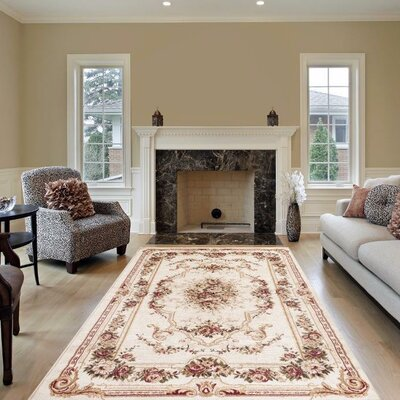 Gwinn Ivory Indoor/Outdoor Area Rug Rug Size: 8 x 10
