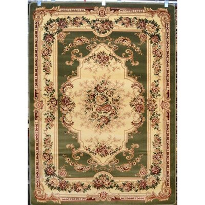 Gwinn Green/Beige Indoor/Outdoor Area Rug Rug Size: 5 x 7