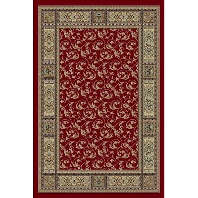 Gwinn Burgundy Indoor/Outdoor Area Rug Rug Size: 5 x 7