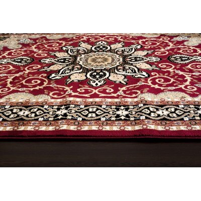 Gwinn Red Indoor Area Rug Rug Size: 3' x 5'
