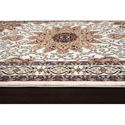 Gwinn Ivory Indoor/Outdoor Area Rug Rug Size: Runner 2 x 7