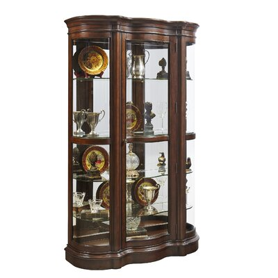 Gwinnett Lighted Wall Mounted Curio Cabinet