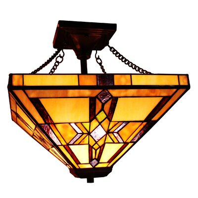 Hackmore 2-Light Semi Flush Mount