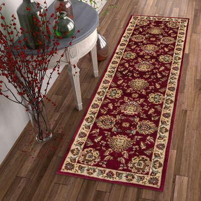 Colindale Red Area Rug Rug Size: 53 x 73