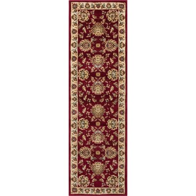 Colindale Red Area Rug Rug Size: Runner 27 x 12