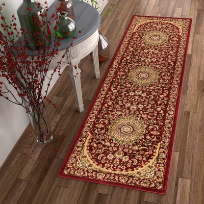 Colindale Red Area Rug Rug Size: Runner 23 x 73