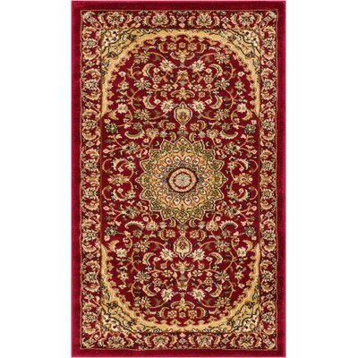 Colindale Red Area Rug Rug Size: 311 x 53