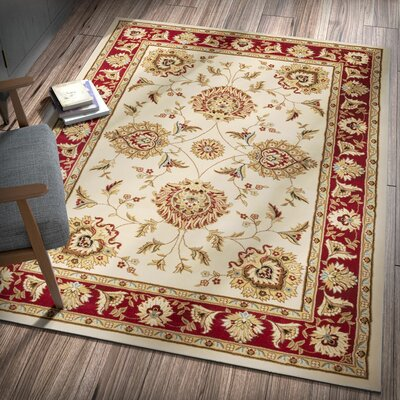 Colindale Ivory Area Rug Rug Size: 53 x 73