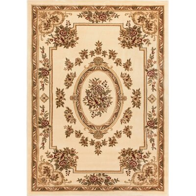 Colindale Ivory Area Rug Rug Size: 92 x 126