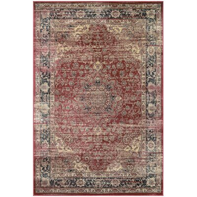 Larimore Red/Black Area Rug Rug Size: Rectangle 92 x 125