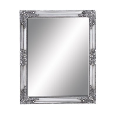 Rectangle Wood Beveled Mirror Size: 32