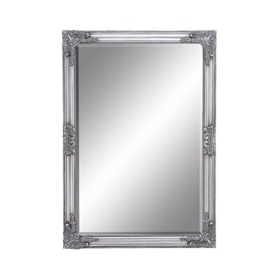 Rectangle Wood Beveled Mirror Size: 40