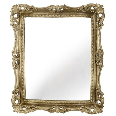 Rectangle Gold Framed Wall Mirror