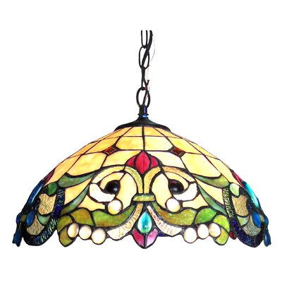 Hazelden 2-Light Bowl Pendant