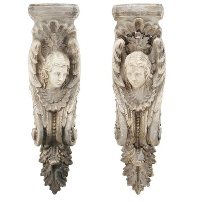 2 Piece Beige Sculpture Wall Décor Set
