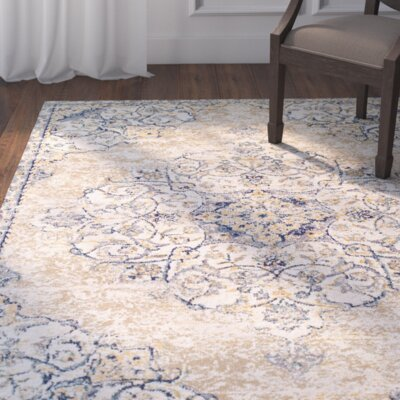 Linslade Pebble Beige Area Rug Rug Size: Rectangle 6'6