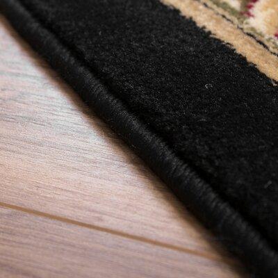 Colindale Black Area Rug Rug Size: 67 x 93