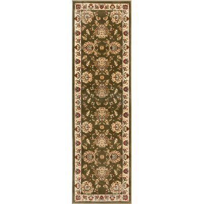 Colindale Green Area Rug Rug Size: Runner 23 x 73