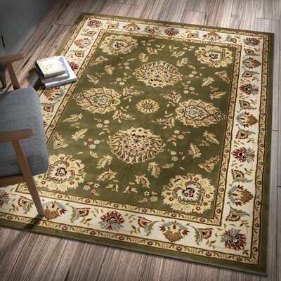Colindale Green Area Rug Rug Size: Rectangle 92 x 126