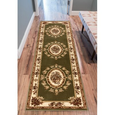 Colindale Green Area Rug Rug Size: Runner 27 x 12