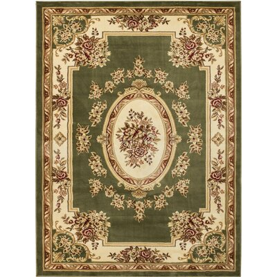 Colindale Green Area Rug Rug Size: 93 x 126