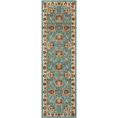 Colindale Light Blue Area Rug Rug Size: Runner 27 x 12