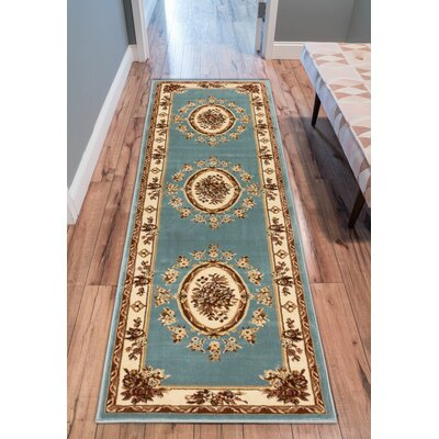 Colindale Light Blue Area Rug Rug Size: Runner 23 x 73