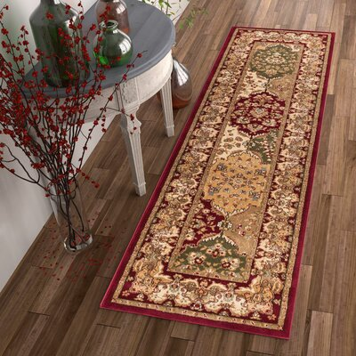 Colindale Mina-Khani Red Area Rug Rug Size: Rectangle 53 x 73