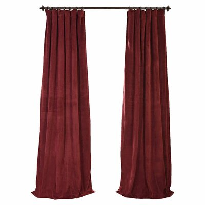 Hackney Velvet Blackout Single Curtain Panel