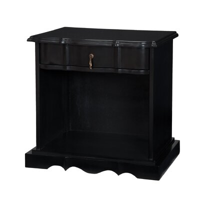 Harford Accent Table Finish: Black Wood Grain