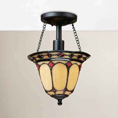 Hambleton 1-Light Semi Flush Mount