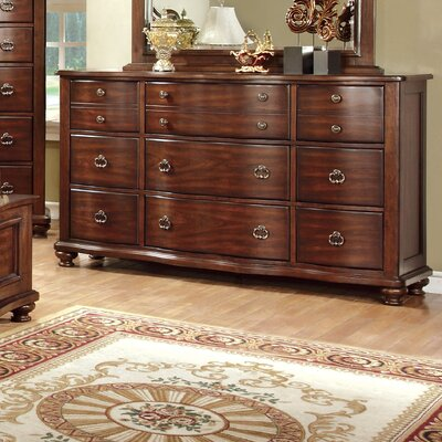 Harrelson 9 Drawer Dresser with Mirror