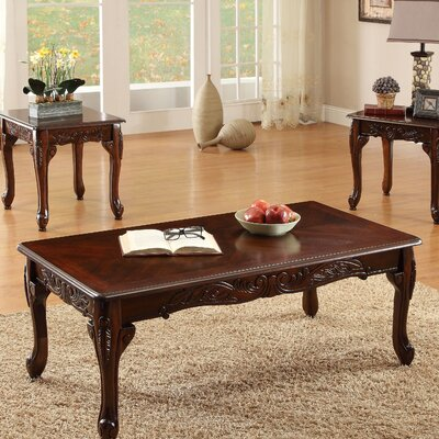 Harrietta 3 Piece Accent Table Set Finish: Dark Cherry