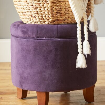 Harrison Upholstered Storage Ottoman Upholstery: Rich Plum Aubergine
