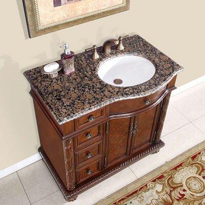 Harrow 36 Single Bathroom Vanity Set Sink Location: Right, Top Finish: Baltic Brown