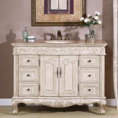 Haslett 48 Single Bathroom Vanity Set Top Finish: Travertine Stone