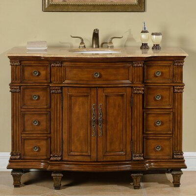 "Kellar 48"" Single Sink Cabinet Bathroom Vanity Set"