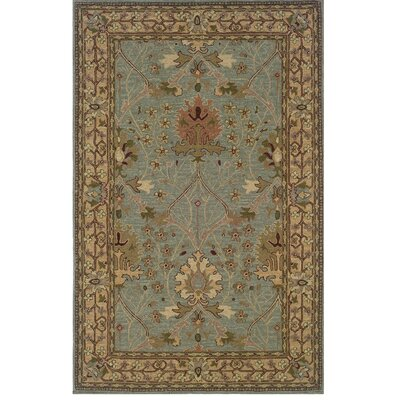Yvette Hand-Tufted Blue/Beige Area Rug Rug Size: Rectangle 9 x 12