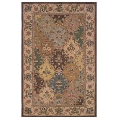 Yvette Hand-Tufted Brown Area Rug Rug Size: 1'10