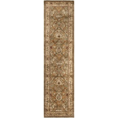 Empress Brown/Beige Area Rug Rug Size: Runner 26 x 12