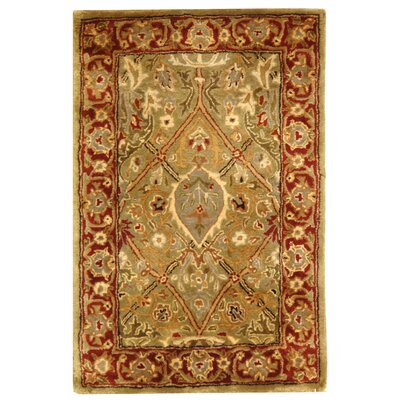 Empress Wool Rust Area Rug Rug Size: Rectangle 26 x 4