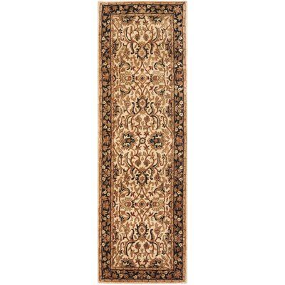 Empress Wool Black/Ivory Area Rug Rug Size: Runner 26 x 10