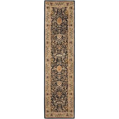 Empress Hand-Tufted Black/Gold Area Rug Rug Size: Rectangle 26 x 4