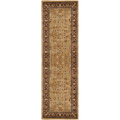 Empress Gold/Red Area Rug Rug Size: Runner 26 x 10
