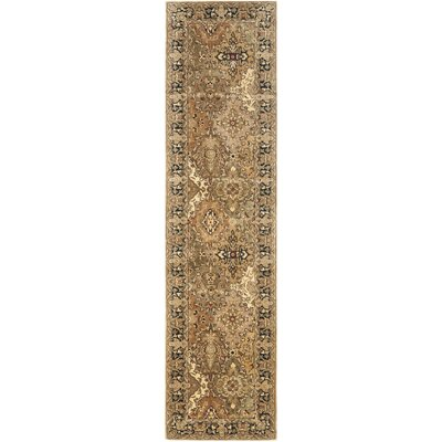 Empress Green Rug Rug Size: Runner 26 x 8