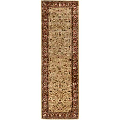Empress Wool Red/Orange Area Rug Rug Size: Runner 26 x 12