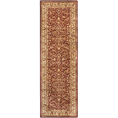 Empress Rust/Yellow Area Rug Rug Size: Runner 26 x 12