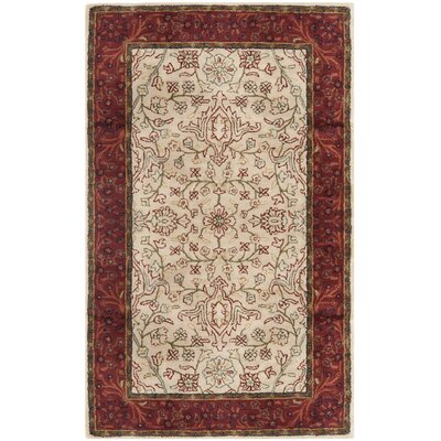 Griswold Hand-Tufted Ivory / Rust Area Rug Rug Size: Rectangle 6 x 9